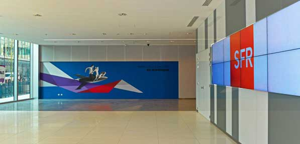 Lobby Video Wall SFR Saint Denis France