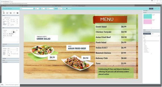 Create your Digital menu board with QL Designer